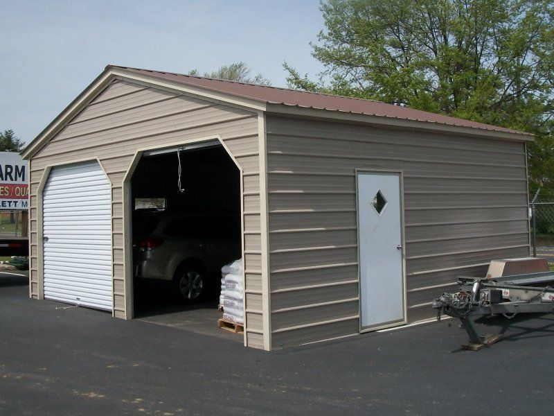 4780 22x21 Vertical Roof Garage for (2) Cars or Trucks