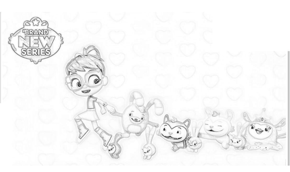 Abby Hatcher Coloring Pages Abby and Friends Fuzzlies in ...