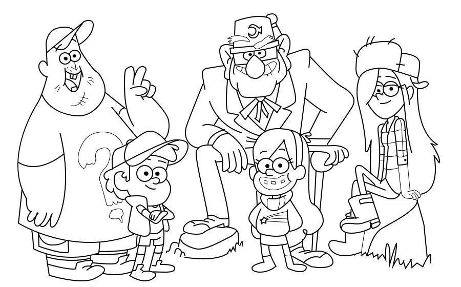 зачарованный мир раскраски с персонажами мультфильма