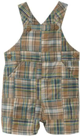 Amazon.com: Kitestrings Baby-boys Infant Patchwork Plaid Shortall, Blue Patchwork, 12 Months: Clothing