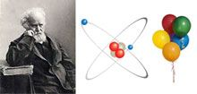 Jules Cesar Janssen obtained the first evidence of helium. Diagram of a helium atom. There are only two electrons orbiting helium's nucleus. Helium ballons are lighter than air.