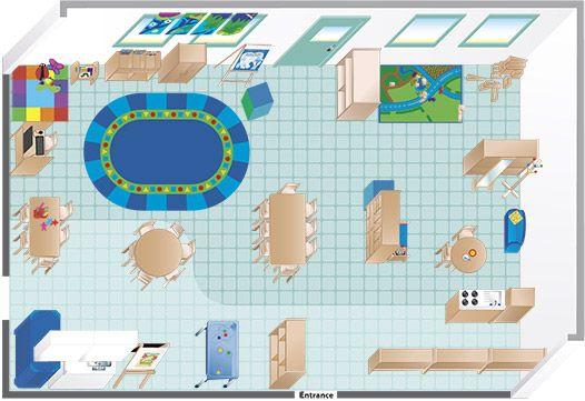 Floor plan an environments pre k teacher goodness for Design a preschool classroom floor plan online