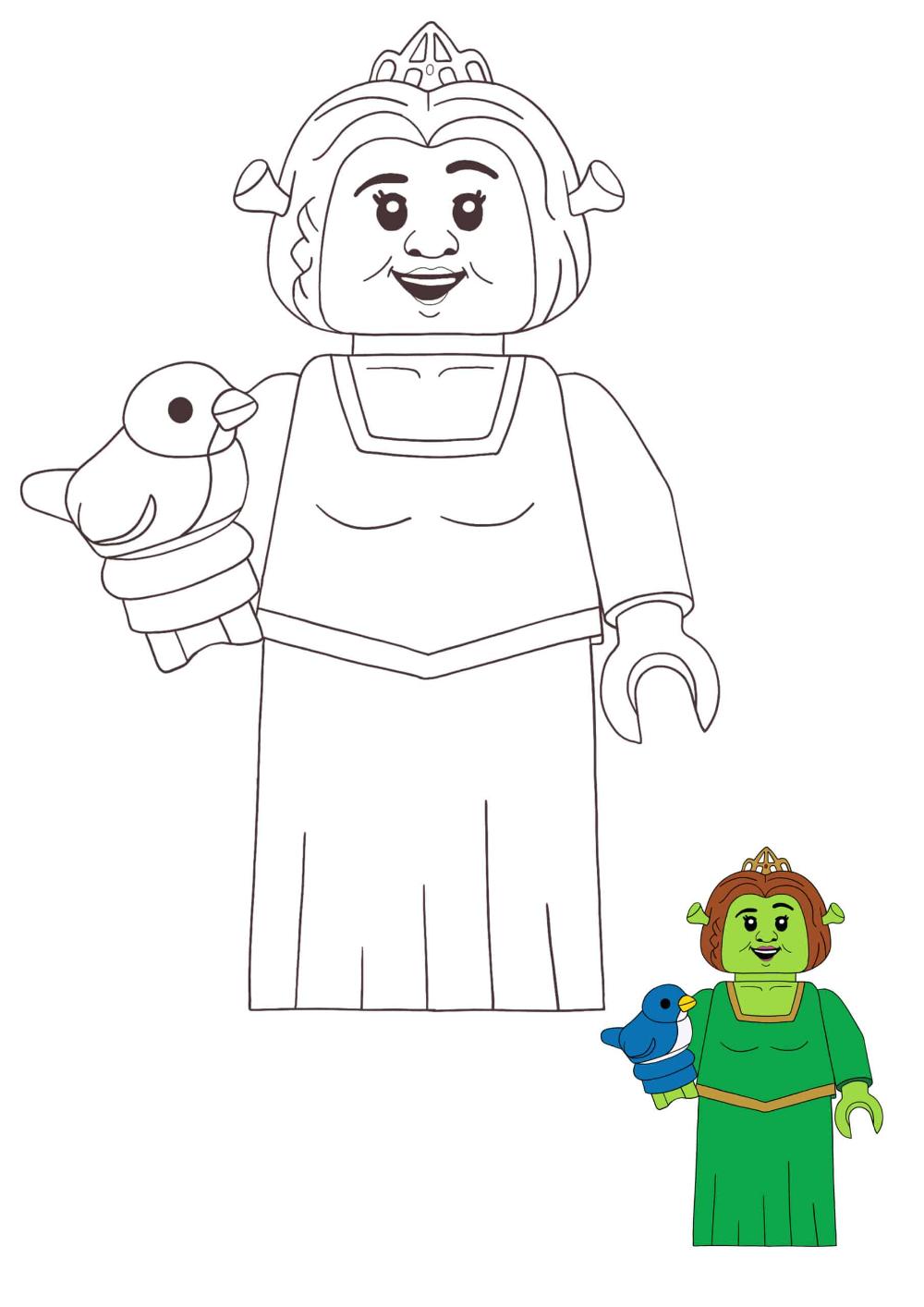 Lego Princess Fiona Coloring Pages 2 Free Coloring Sheets 2020 Princess Coloring Pages Princess Fiona Disney Princess Anime
