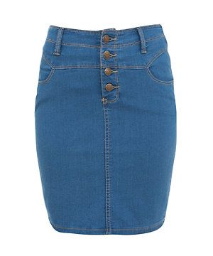 00df900636 Blue (Blue) Blue Denim Pencil Skirt | 268704440 | New Look | This is ...