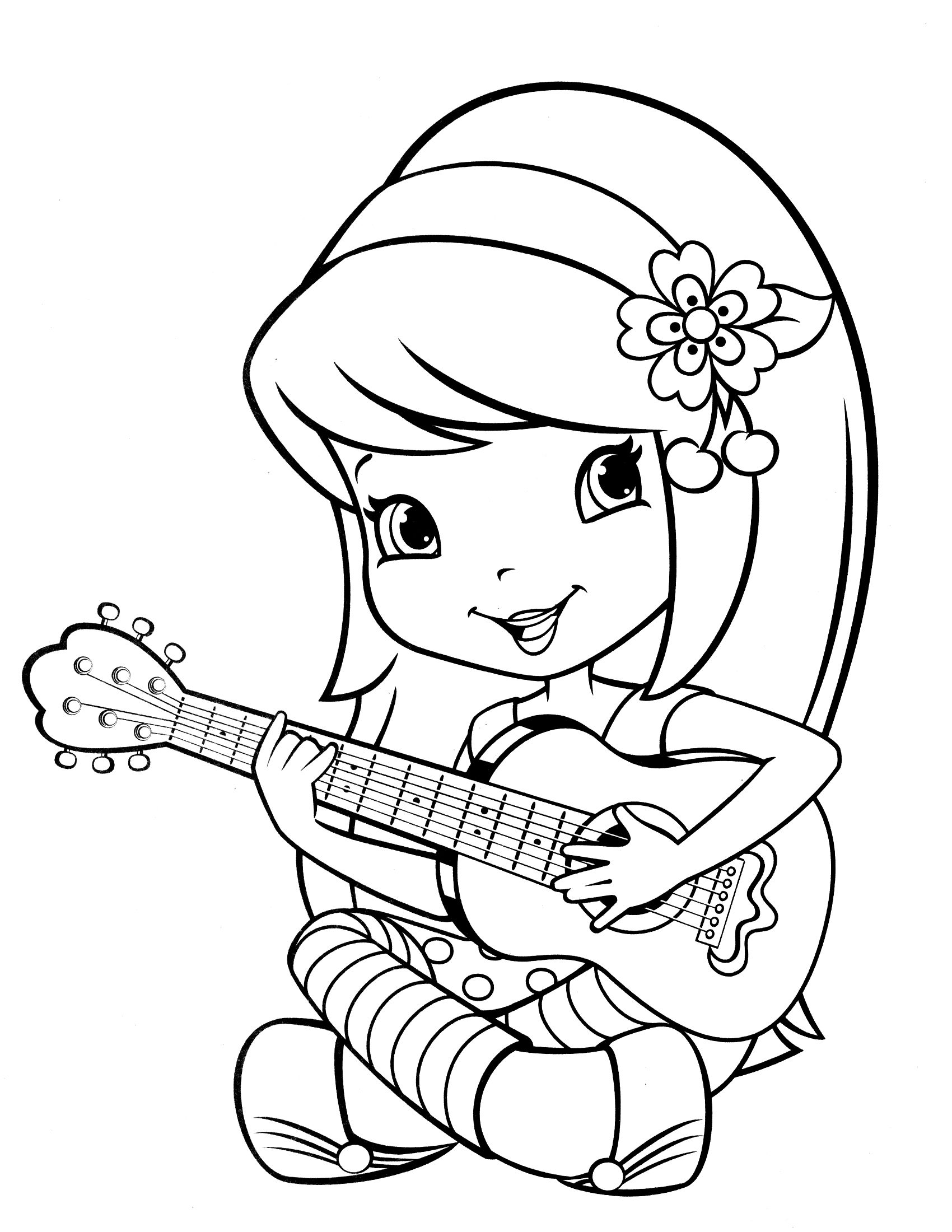 strawberry shortcake coloring pages 01
