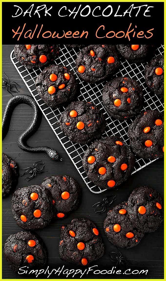 Dark Chocolate Halloween Cookies make a spooky and tasty treat The dark as nigh Dark Chocolate Halloween Cookies make a spooky and tasty treat The dark as nigh Informatio...
