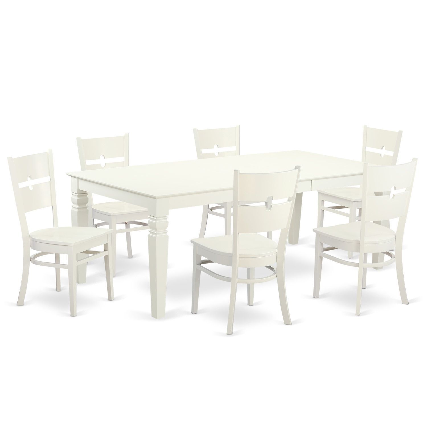 LGRO-LWH-W Dinette set with one Logan table and four up to 8 ...