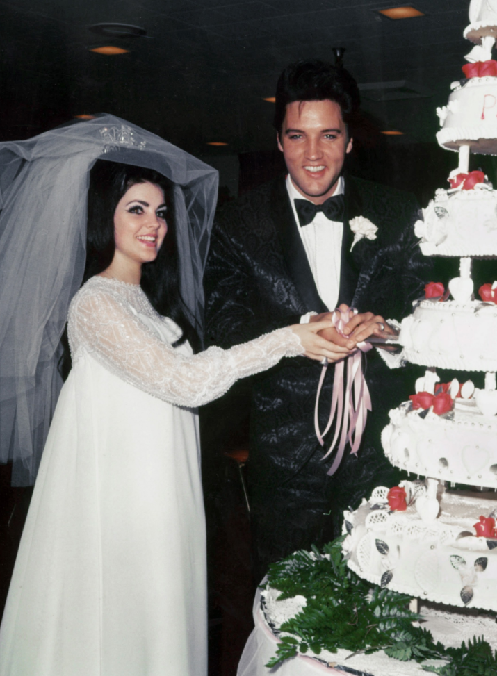 The Stories Behind The Most Iconic Wedding Dresses In History Weddings History Weddi Celebrity Wedding Dresses Priscilla Presley Wedding Celebrity Weddings