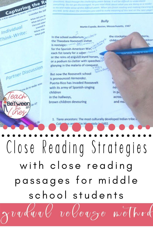 Close Reading Strategies Unit With Close Reading Passages Close Reading Strategies Reading Strategies Improve Reading Comprehension Evan moor reading comprehension