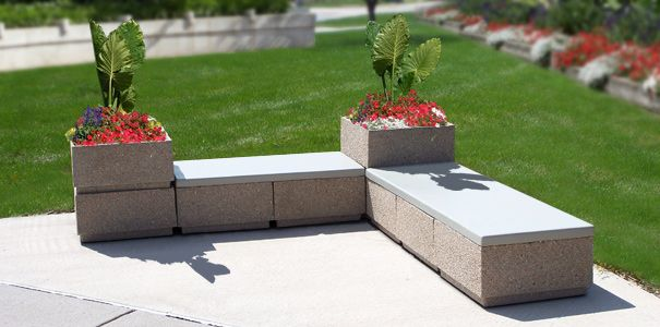 Modular Concrete Seating I Think I Can Re Create Using