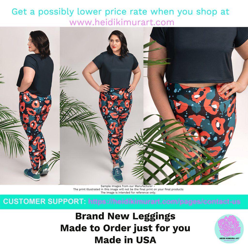 75efc5a8135 Akira Red Plaid Print Women s Long Yoga Pants With Pockets Plus Size L –  Heidi Kimura Art LLC