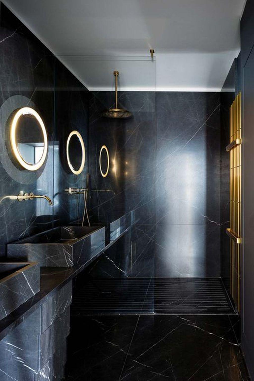 36 Wonderful Black Marble Bathroom Design Ideas Looks Classy Black Marble Bathroom Marble Bathroom Designs Marble Bathroom