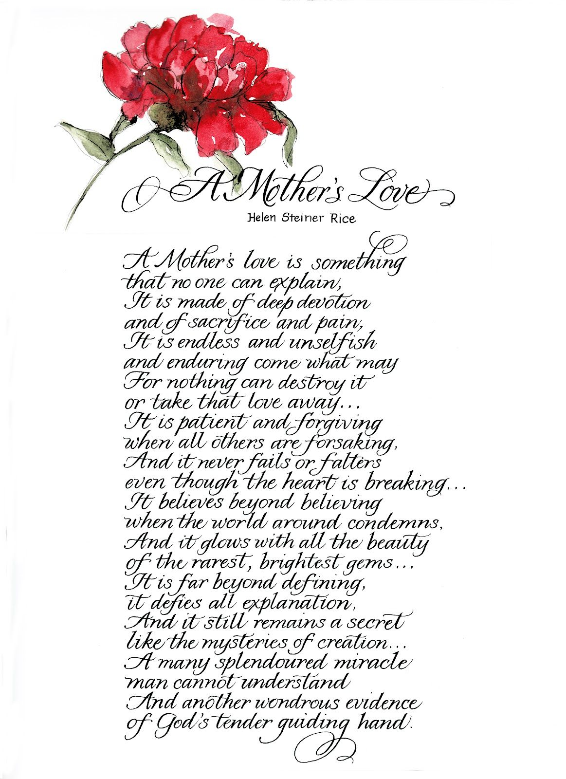 mother birthday poems from daughter | Gift for Mother or Father ...