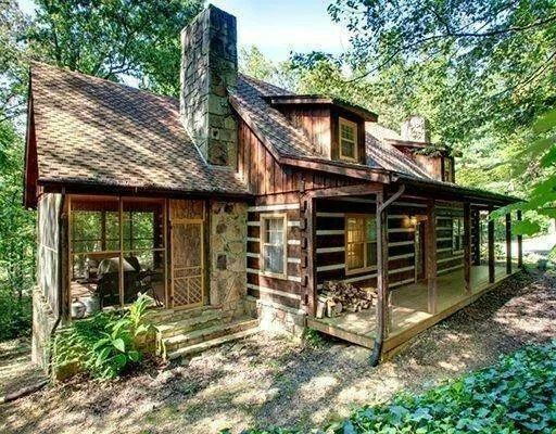 Love the little sunroom addition cabin fever pinterest for Log home sunrooms