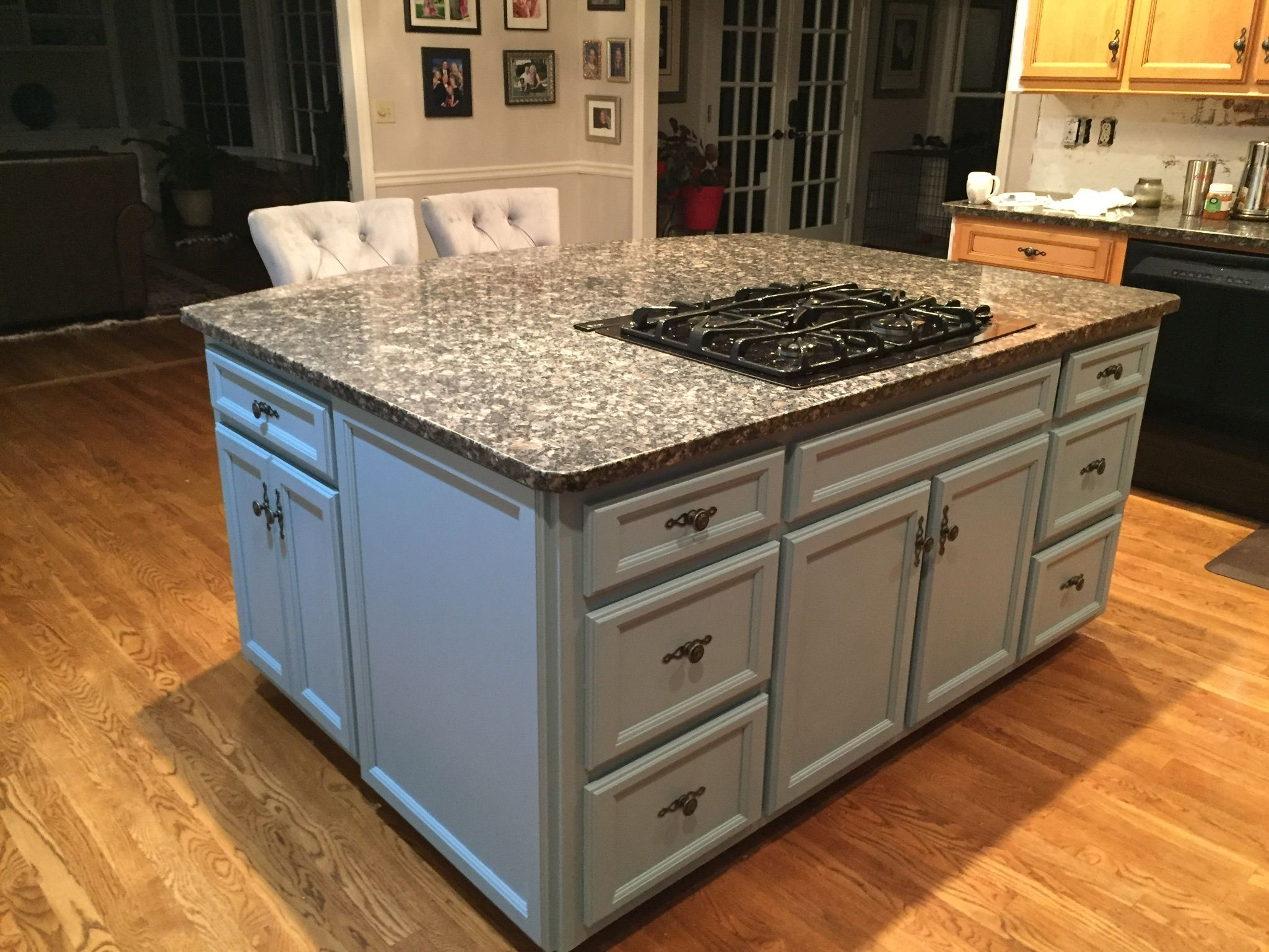 Halcyon Blue General Finishes Milk Paint Sprayed On Finish Kitchen Cabinets Milk Paint Cabinets Blue Cabinets