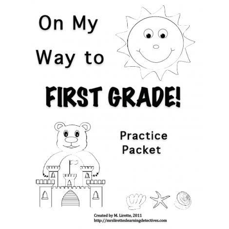 On My Way to 1st Grade! Kindergarten Review Practice Pack