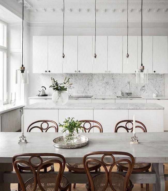 marble kitchen cycy\u0027s kitchen Pinterest Déco intérieure