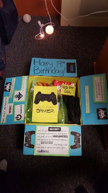 Gamer Care Package Birthday Diy Gifts For Boyfriend