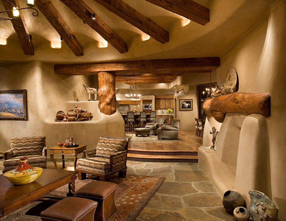 amazing adobe style living area! love it all! | nm dream home