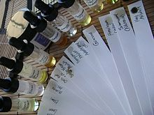 Paper blotters (fr:mouillettes) are commonly used by perfumers to sample and smell perfumes and odorants.