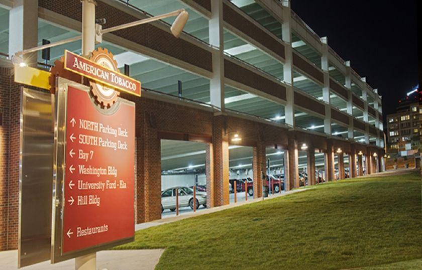American Tobacco Campus Parking Lighting Parking Deck Garage Lighting Parking Garage Campus