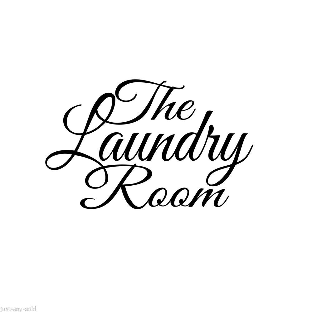 Laundry Word Art The Laundry Room Large Wall Vinyl Decal Sticker Select Color  Www