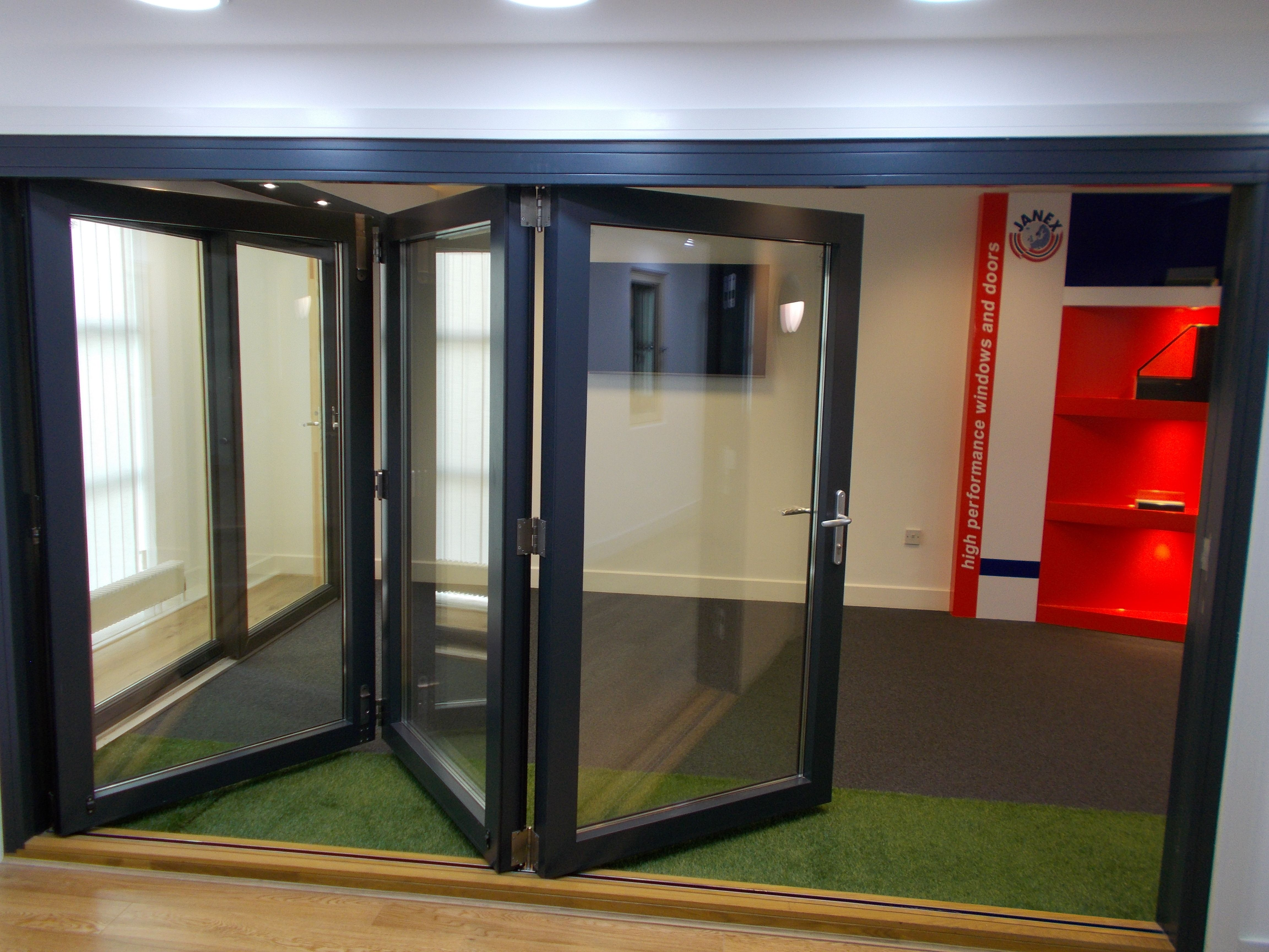High performance #aluclad #bifold doors available to view at #showroom in Falkirk. & High performance #aluclad #bifold doors available to view at ...