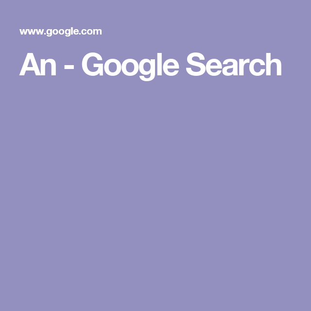 An - Google Search