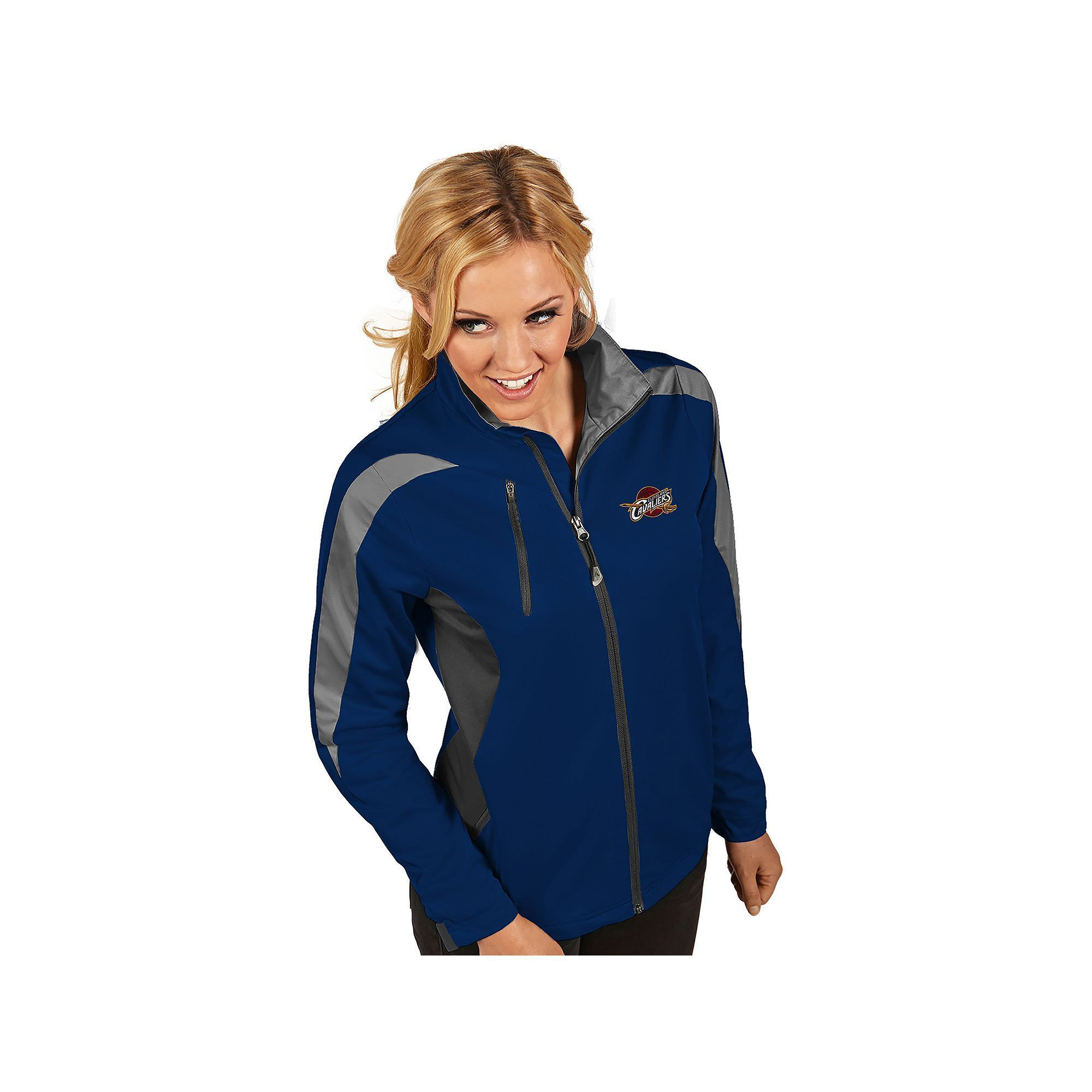 Women's Antigua Cleveland Cavaliers Discover Pullover, Size: Medium, Blue (Navy)