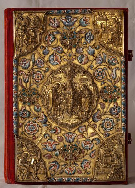 Оклад Евангелия из Спасообыденной церкви. 1760 ...