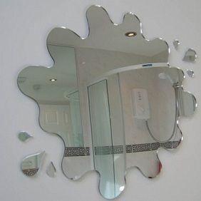 Splatter Mirror Would Be Cute In A Kids Bathroom