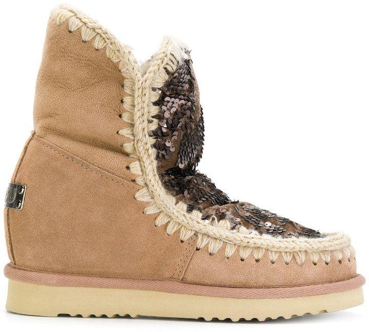 Footwear Boots Mou Pinterest Winter Sequinned wxzOF