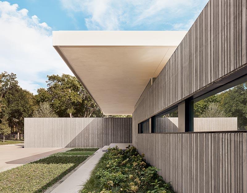 Corrugated Concrete Walls Cover This House In Texas Em 2020 Arquitetura Residencial Casas Arquitetura