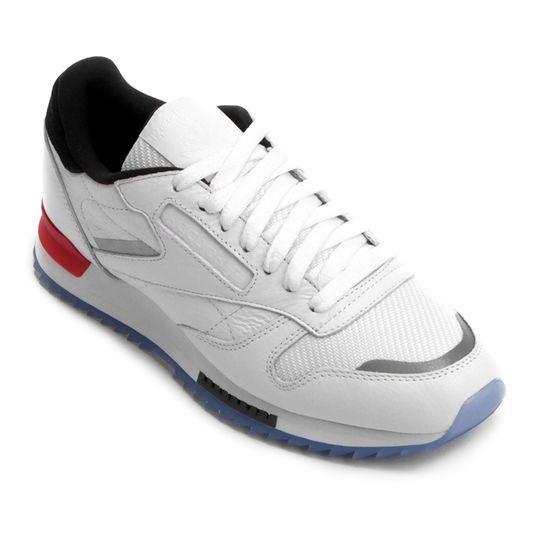 22f73d23fe Tênis Reebok Cl Leather Ripple Low Masculino - Branco e Vermelho ...