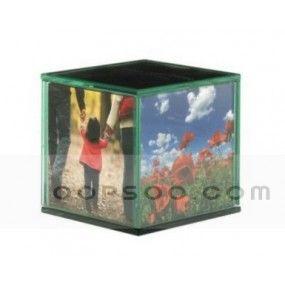 Custom Printed Multicolor Plastic Cube Photo Frame Hp1412181536