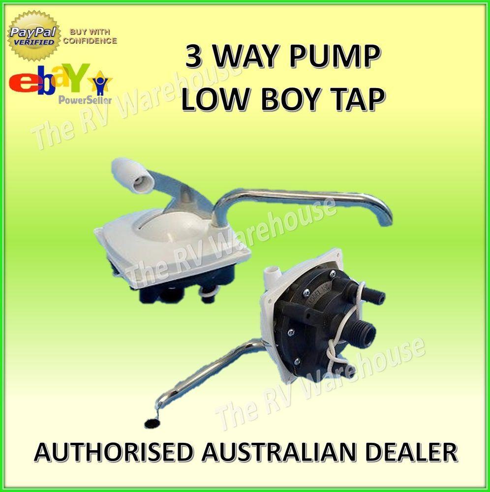 3 Way Pump Low Boy Tap Faucet New Caravan RV Motorhome Parts ...