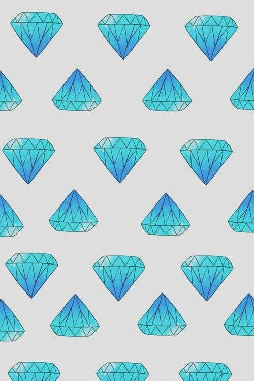 Imagem De Diamond Wallpaper And Blue Cellphone Wallpaper