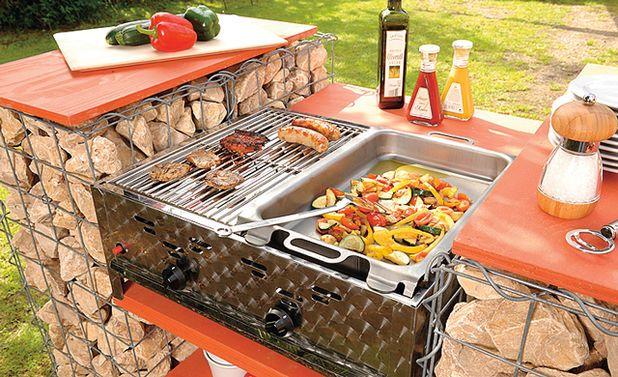 grill bauen grills gabionen grill grill bauen und. Black Bedroom Furniture Sets. Home Design Ideas