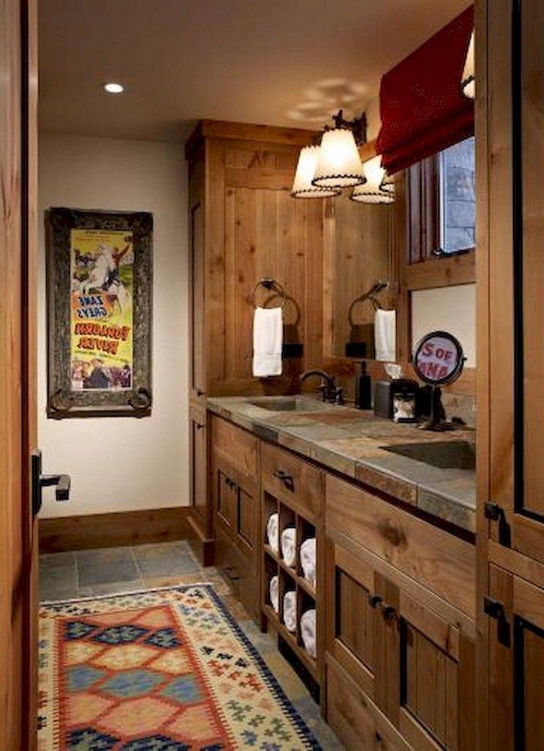 30 Rural Bathroom Remodel Ideas Western Bathroom Decor Bathroom Remodel Master Rustic Bathroom Remodel