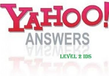 will sell 4 HQ level 2 yahoo answer accounts for $6