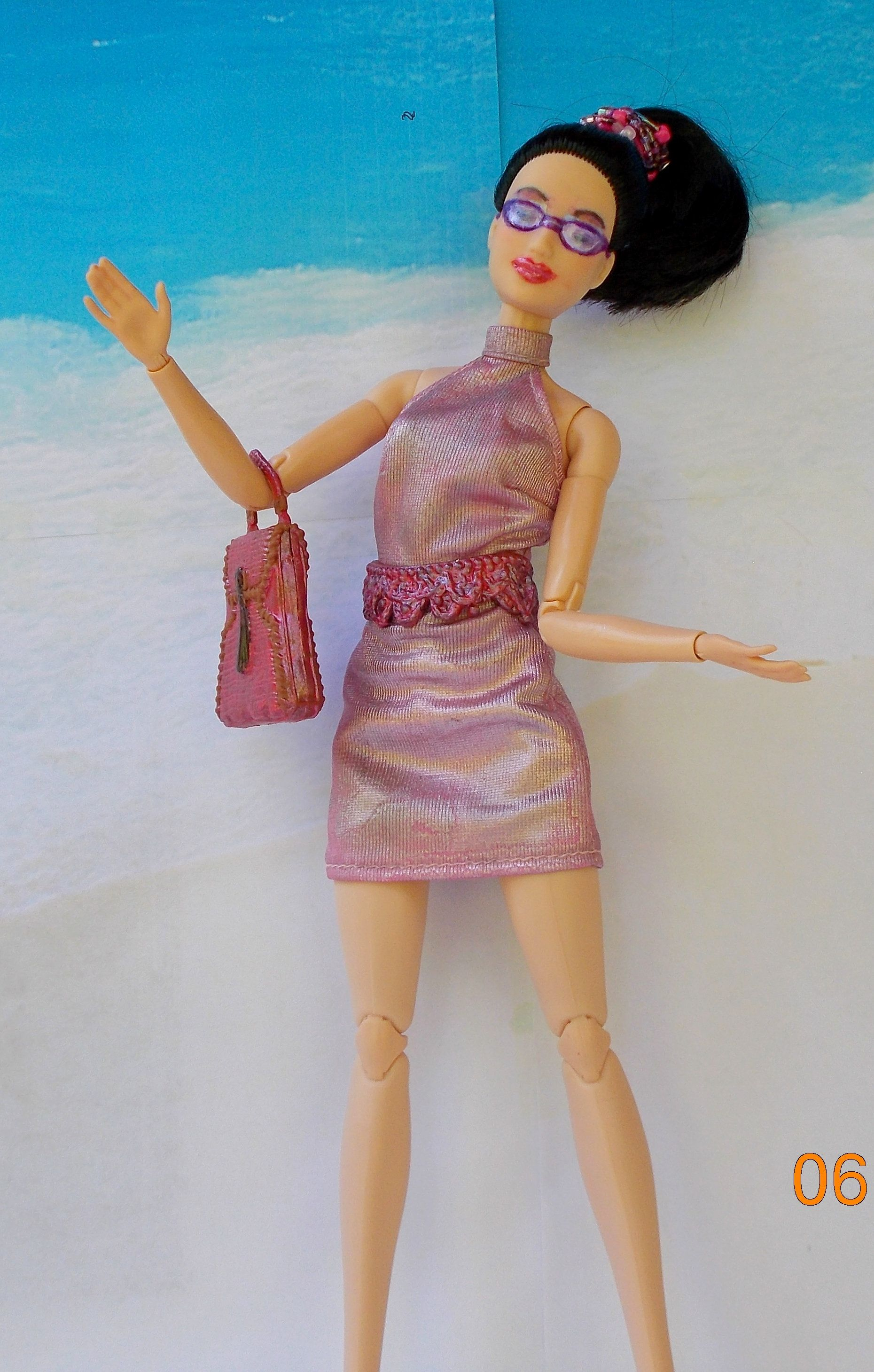 Custom made to move lea barbie painted art doll repaint fashion doll asian