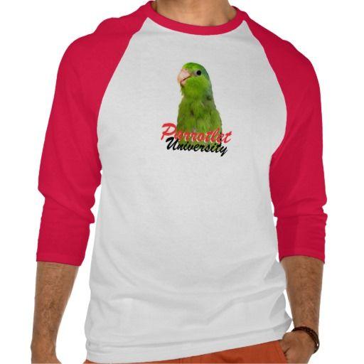 Parrotlet University baseball shirt at http://www.zazzle.com/parrotlet_university_parrots_mens_baseball_shirt-235898829464677929