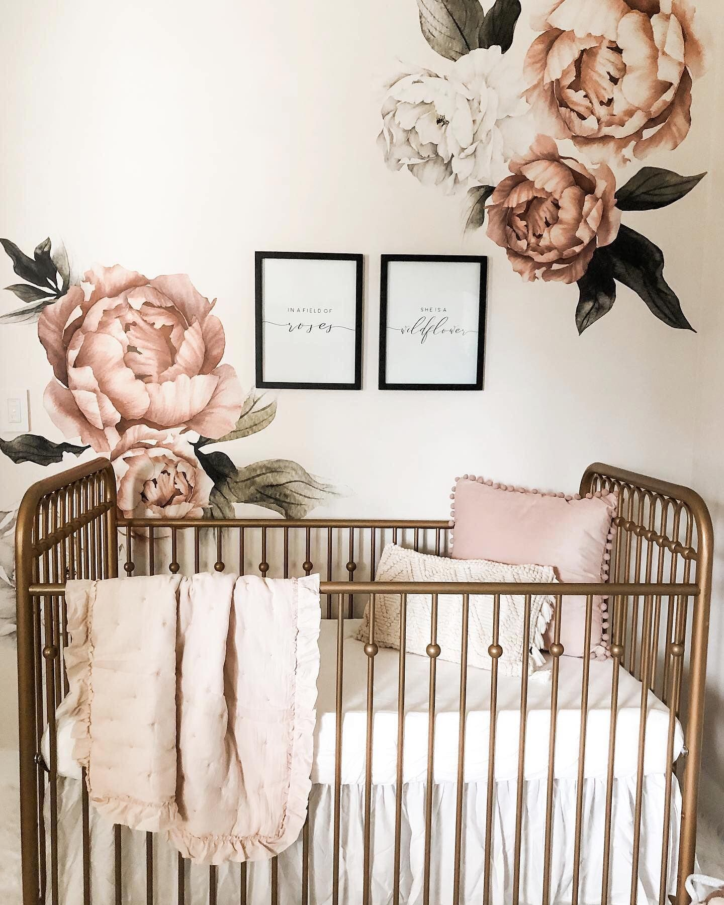 Floral Peony Wall Decals Nursery Decor Inspiration Girl Project