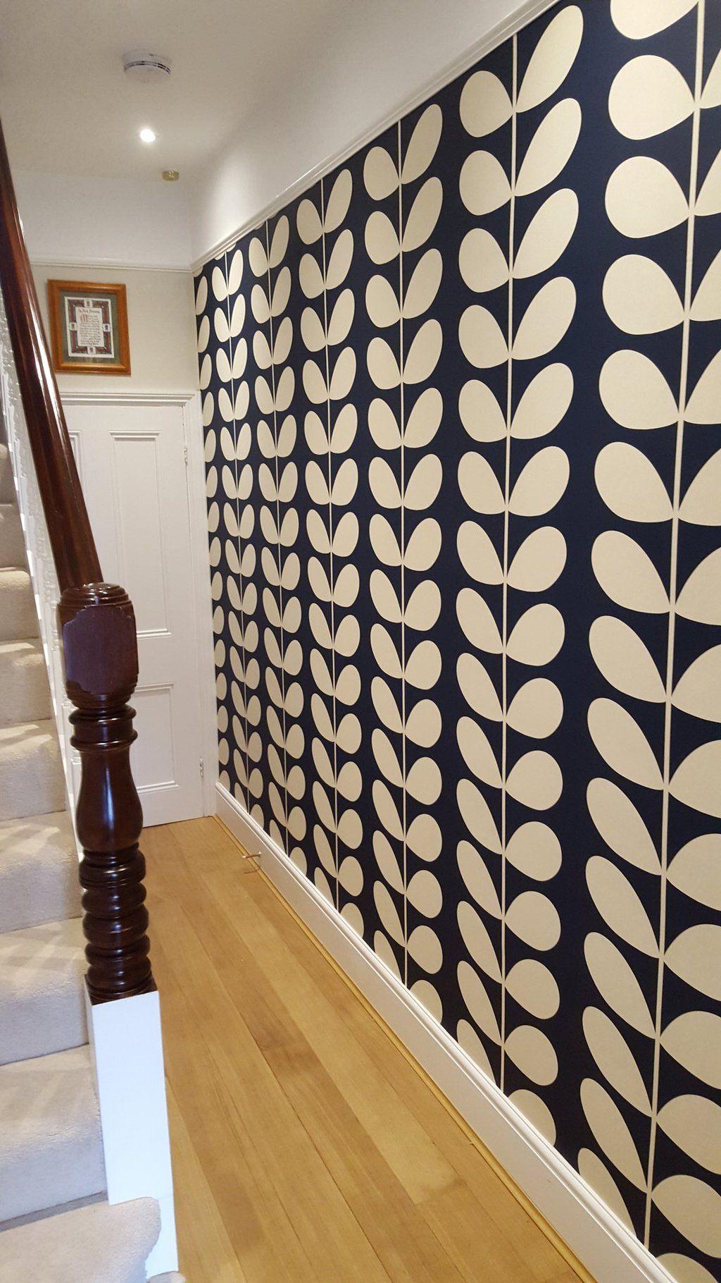 orla kiely stem wallpaper in 2019 Feature wall bedroom