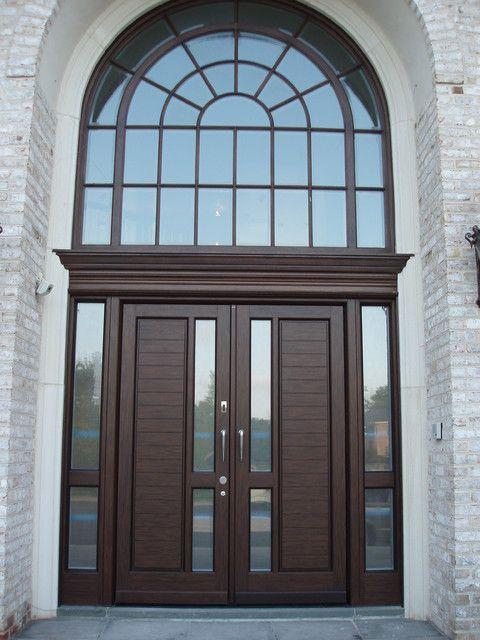 Spaces Decorating In Contemporary Style Using Double Door Dark Door Door High End Exterior Interior Eu Double Doors Exterior Exterior Doors Door Design