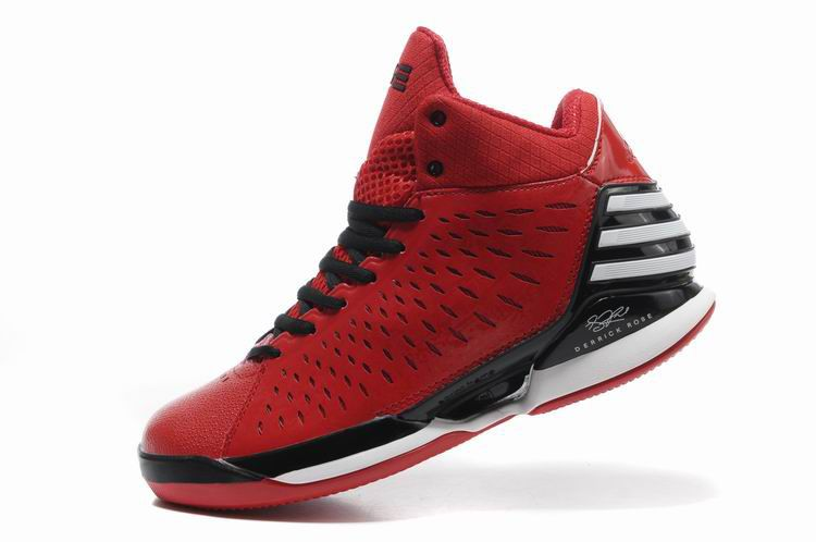 red and black adidas basketball shoes