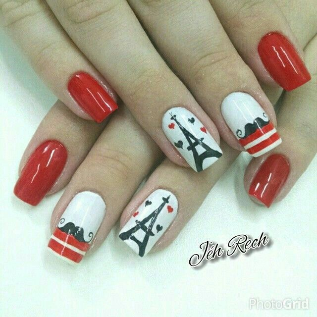 Pin by Kati on uñad   Pinterest   Paris nails, Makeup and Manicure