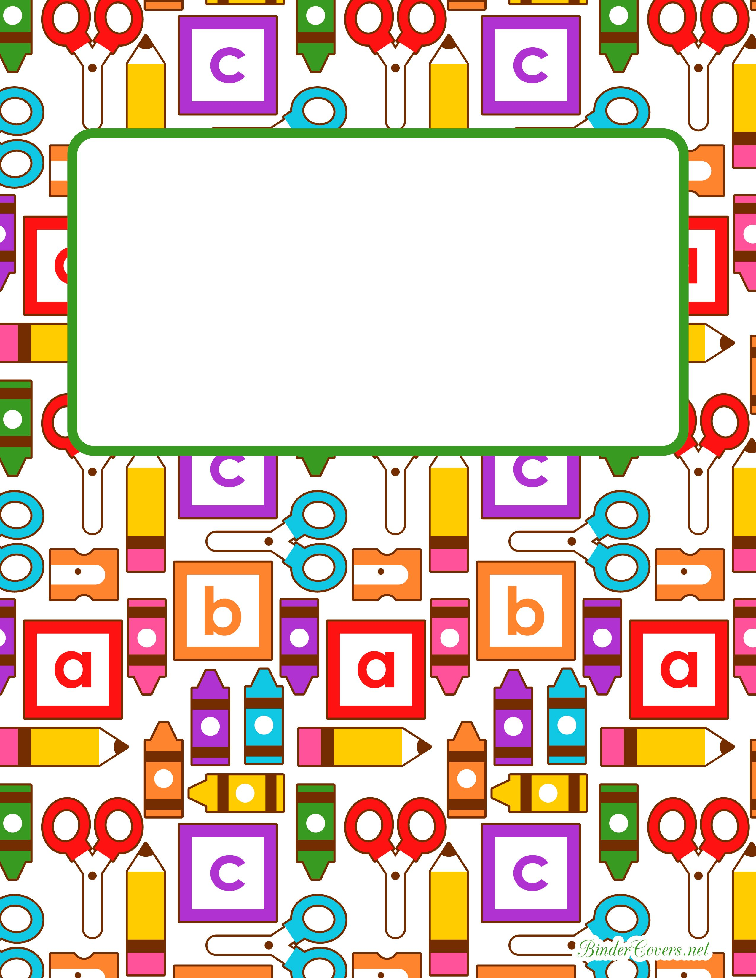 KindergartenBinderCoverWatermarkedJpg  Pixels