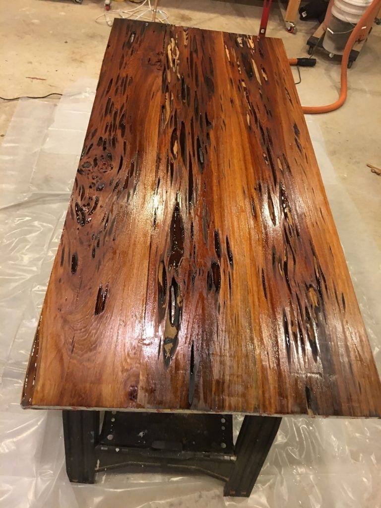 How to Build a Resin Dining Table with Pecky Sinker ...