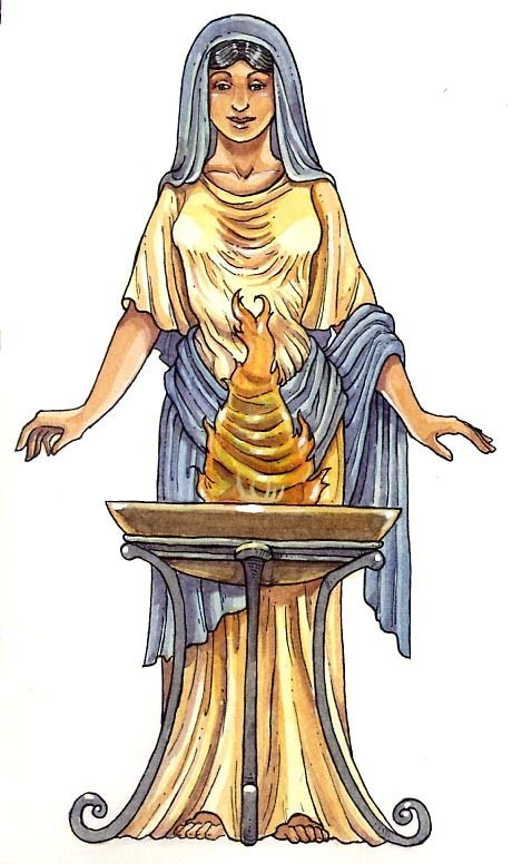 Vesta Goddess For The Open Hearth And Family Peace Wissen Genial Altes Rom Knowledge Geniou Greek And Roman Mythology Goddess Of The Hearth Greek Pantheon